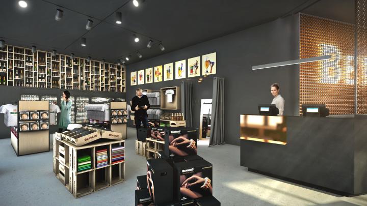 Interiér recepcie a obchodu