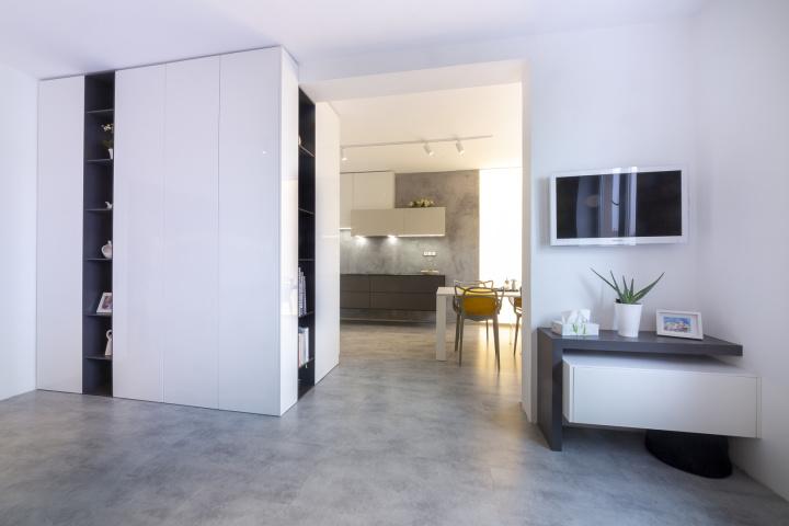 Moderní interiér kuchyně s obývákem