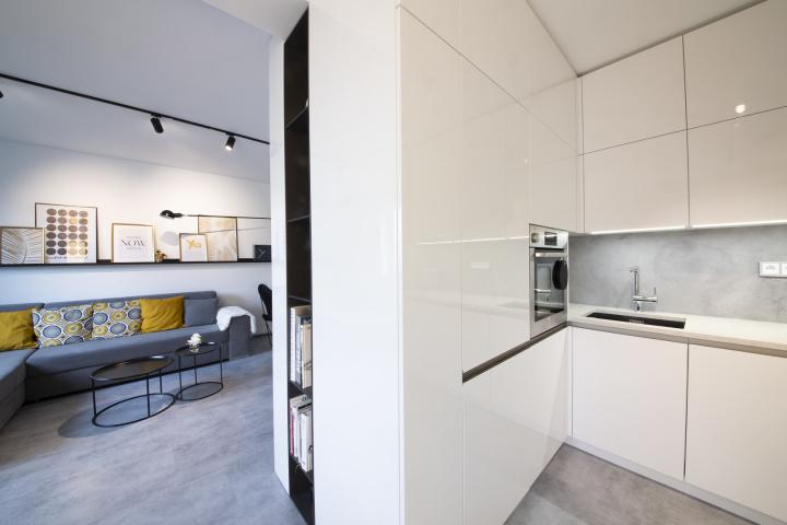 Interiér obýváku v minimalistickém stylu