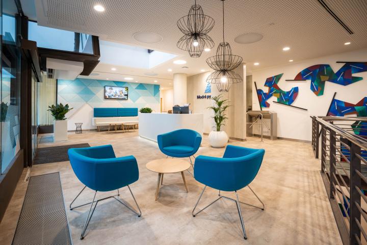 Interiér recepce a vstupního prostoru - moderní interiér