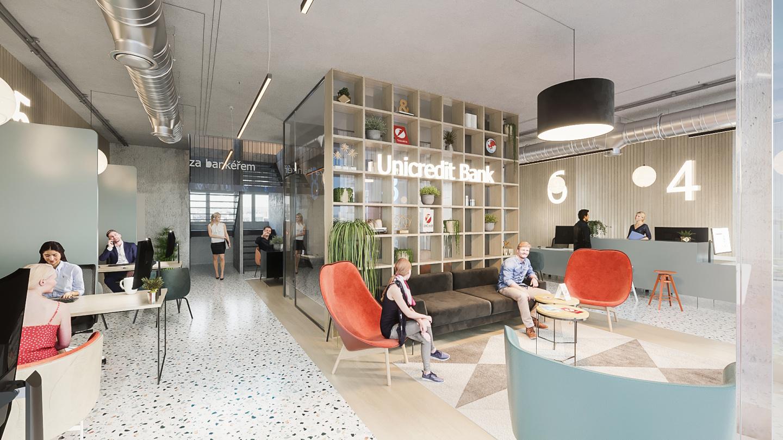 Interiér obchodních prostor