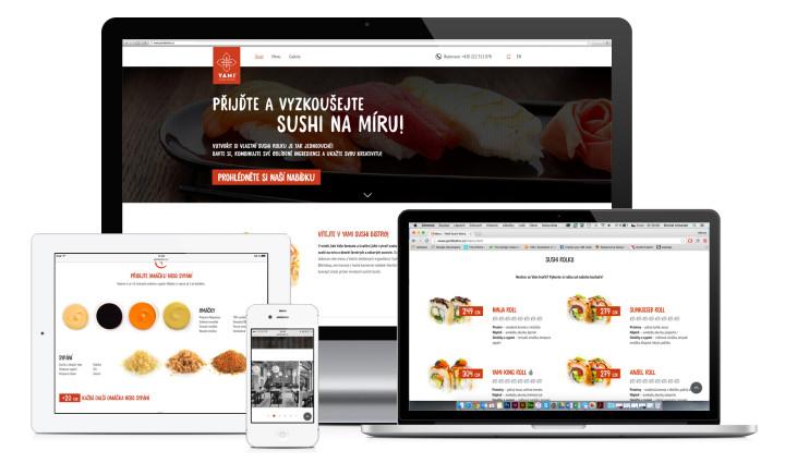 Grafika webu - Yami Sushi Bistro - Hezkey.cz