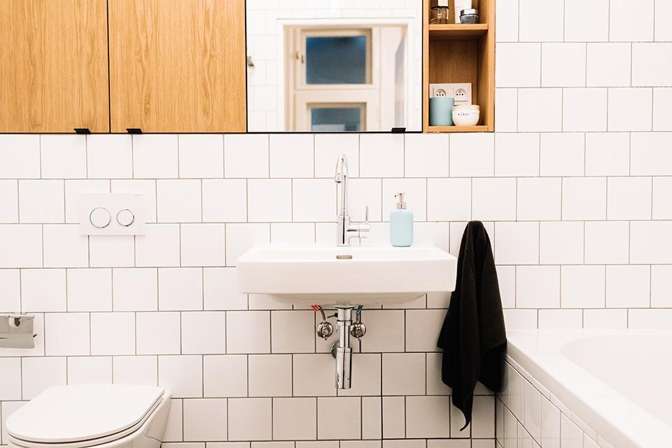 Interiér bytu na pronájem - interiér koupelny