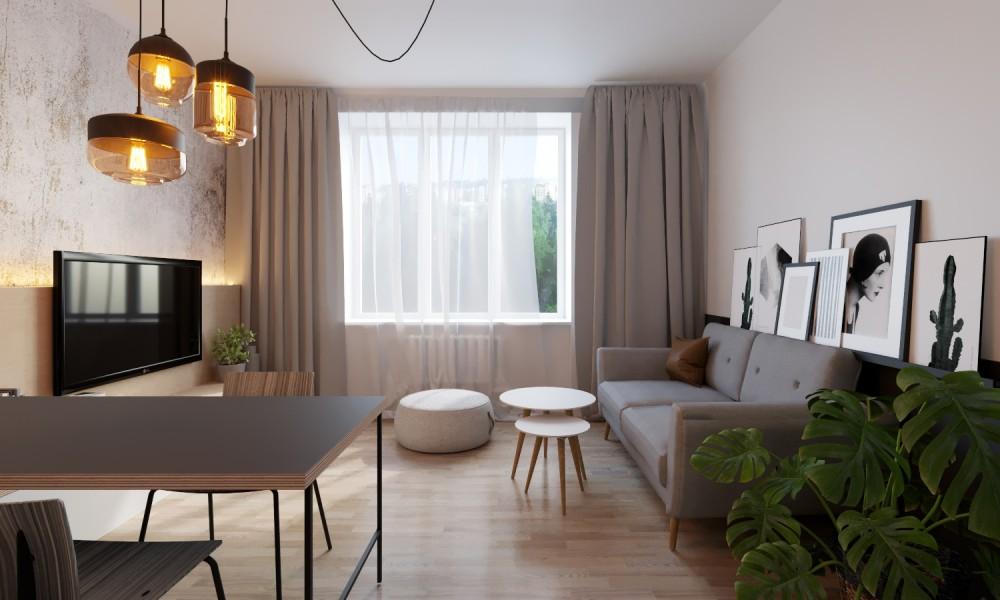 Interiré obývacího pokoje na pronájem