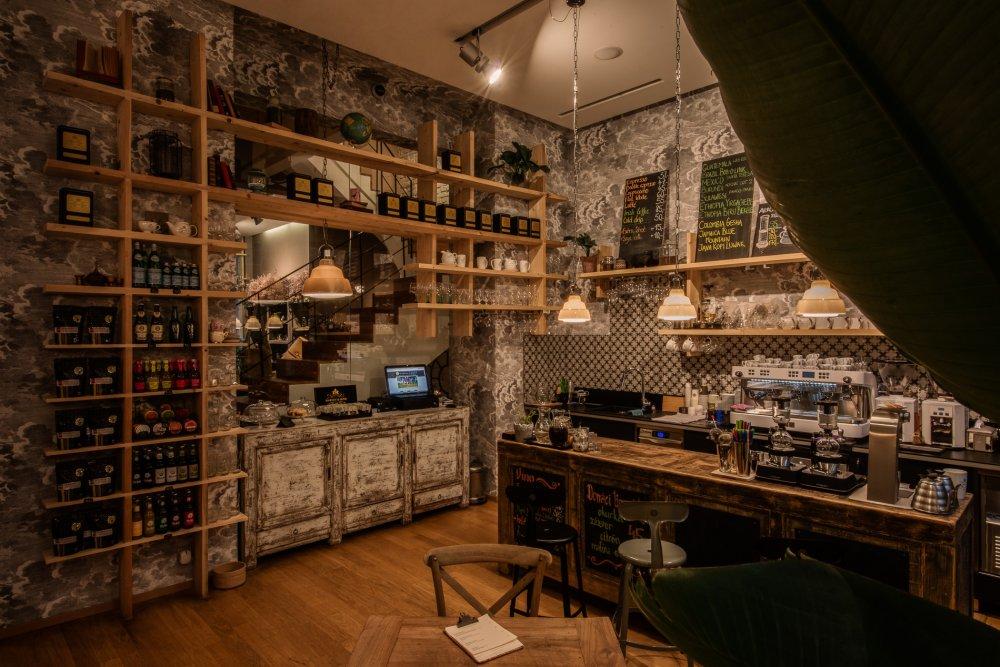 Návrh interiéru kavárny v centru Prahy