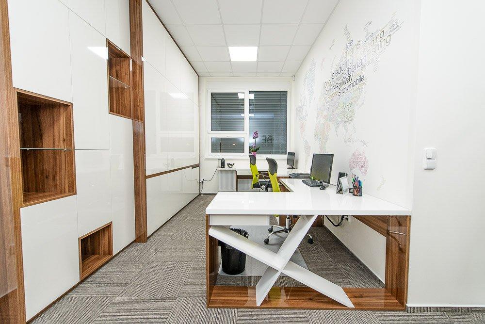 Návrh interiéru kanceláří v Prostějově v Olomouckém kraji.